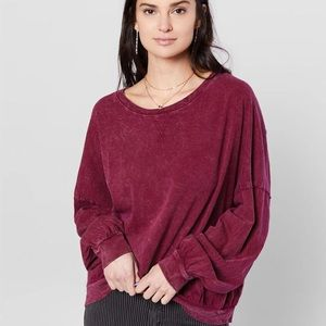 Free people red sweater